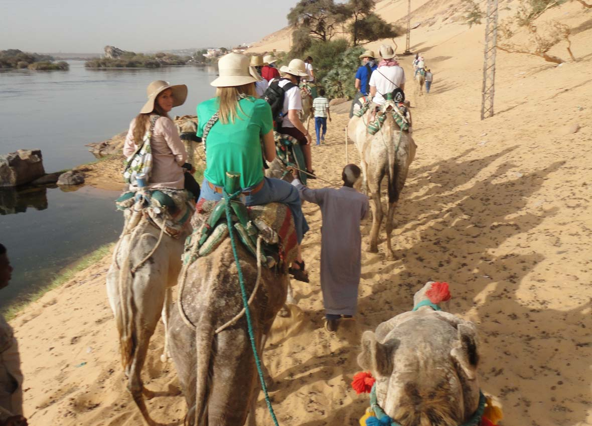 Camel ride in Nubia, 2010
