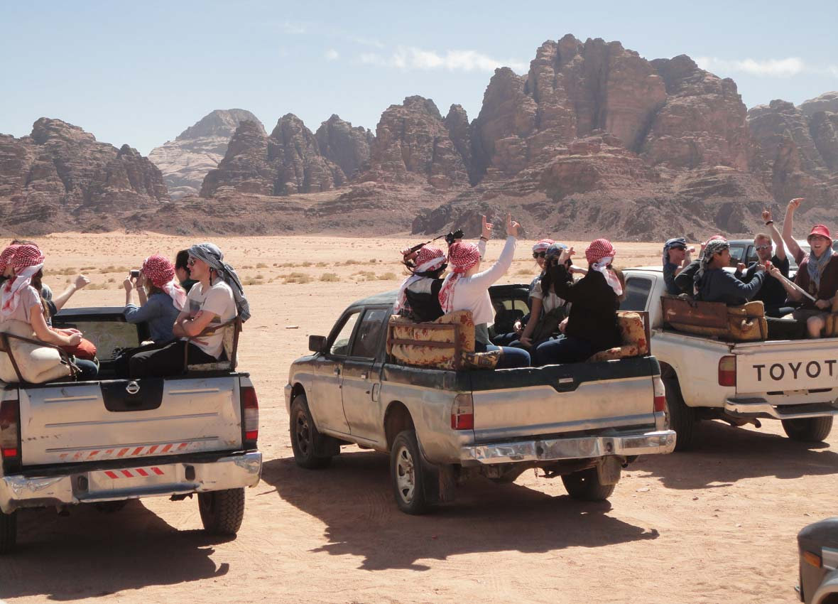 Jeep safari in Wadi Rum, Feb 2014