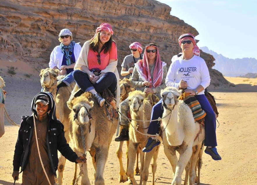 Camel ride in Wadi Rum, Mar 2014